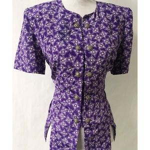 Purple & Silver Vintage Top Size 12